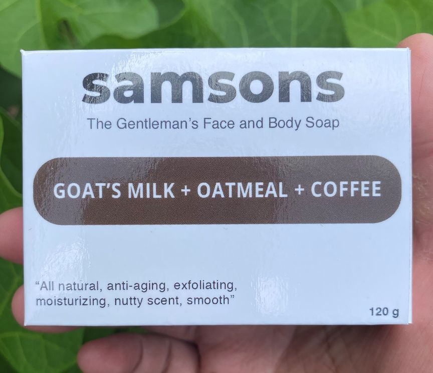 SAMSONS Goat's Milk, Oatmeal, and Coffee Soap by Ed & Kes