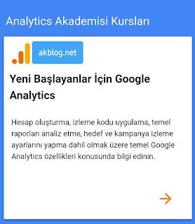 Ücretsiz Google Analytics Analitik - Giriş Seviyesi