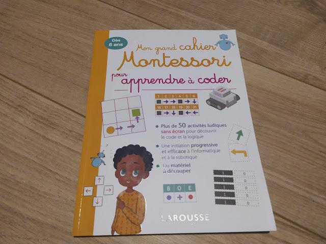 Mon grand cahier Montessori pour apprendre à coder de chez Larousse