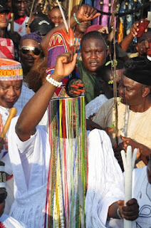 Ooni Wears Aare Crown At Olojo Festival In Osun