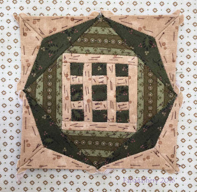 Dear Jane Quilt - Block C4 Tic Tac Toe
