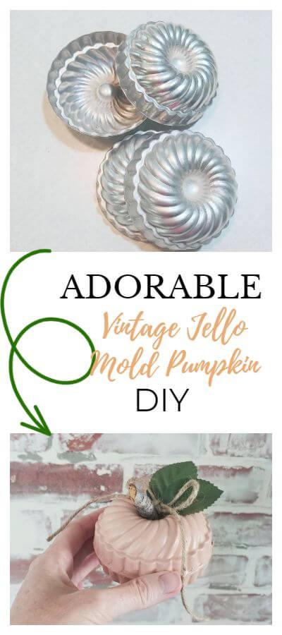 Repurposed Vintage Jello Mold Pumpkins