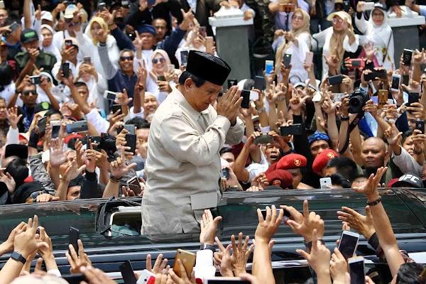 Meski Elektabilitasnya Teratas, Prabowo Sulit Menangi Pilpres 2024