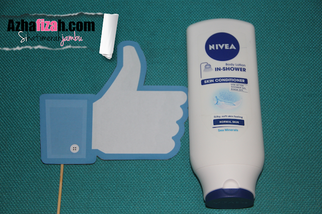 My 1st time with NIVEA's rinse off body lotion