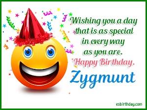 Happy Birthday Zygmunt