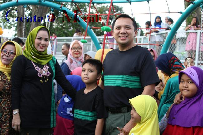 Resmikan Lampung Elephant Park, Gubernur Lampung Berjanji Bangun RTH Dilokasi Lain