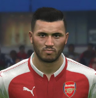 PES 2017 Faces Saed Kolasinac by FaceEditor Jefferson_SF