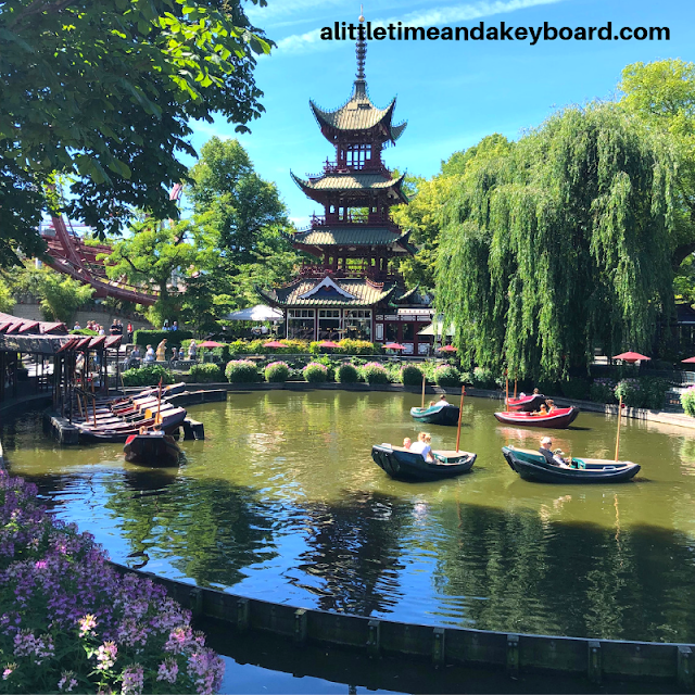Enjoying a meld of gardens, international flare and frivolity at Tivoli Gardens in Copenhagen, Denmark.