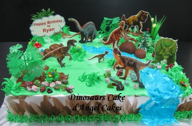 D Angel Cakes Dinosaurs Cake For Ryan