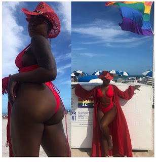 Charly Boy's Daughter Dewy Flaunts Her Backside In S3xy Swimsuit (Photos)