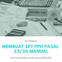 CARA MEMBUAT SPT PPH PASAL 23 / 26 SECARA MANUAL