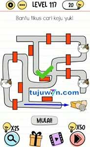 Brain Test Level 117 Bantu tikus cari keju yuk!