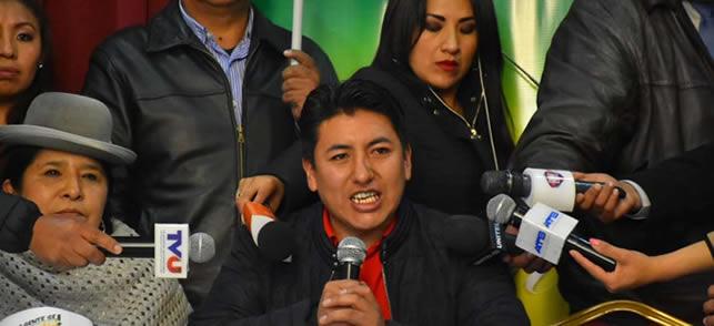 Pumari confirma candidatura y anuncia inicio de campaña de la alianza Creemos