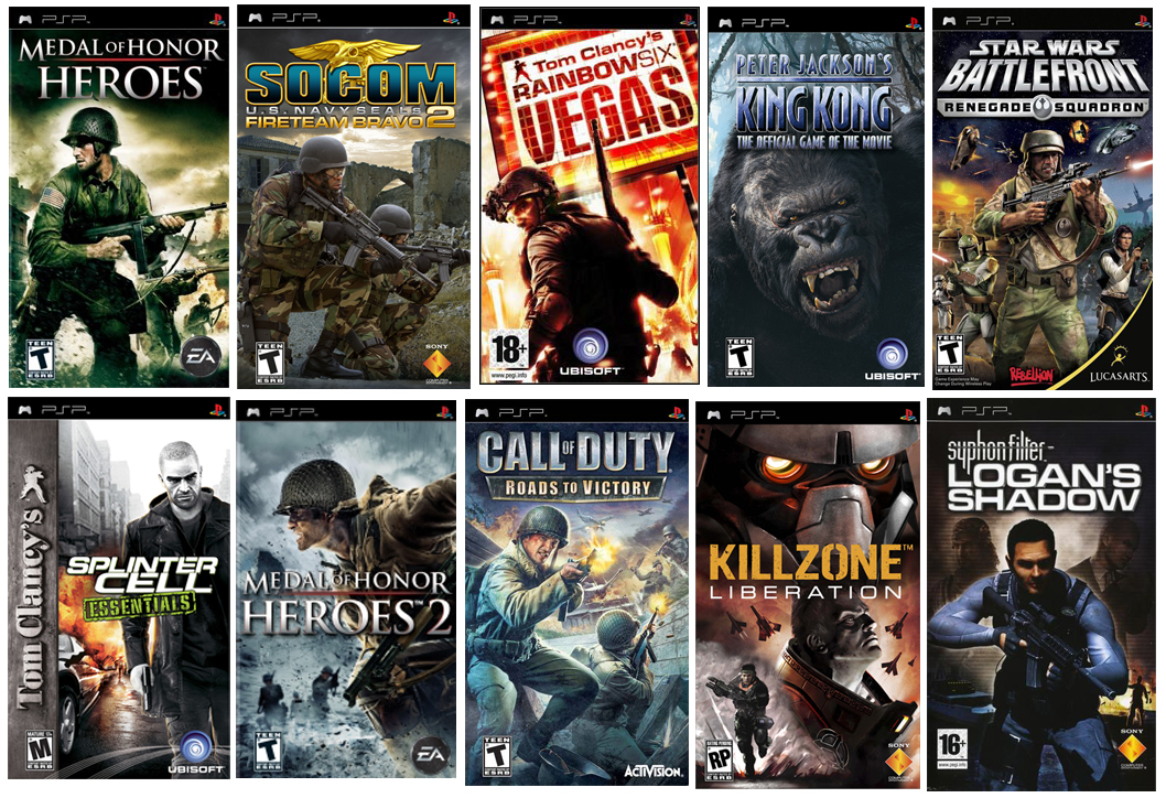 The Best Game Collections: Top 10 PSP Shooter Games Of All ...