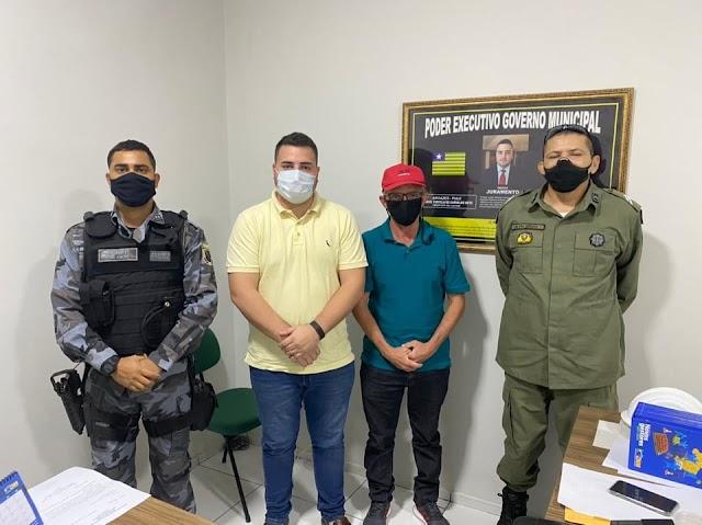 Aroazes: Convênio entre município e PM-PI prevê ações mais efetivas na área de segurança.