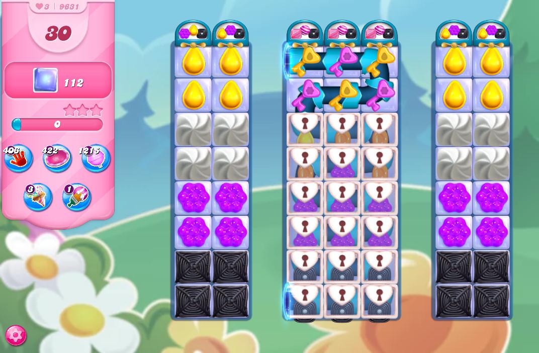Candy Crush Saga level 9631