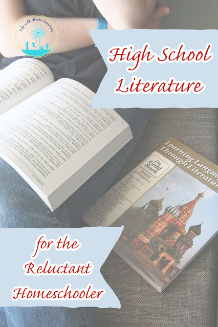 Learning Language Arts Through Literature is a high school language arts curriculum that doesn't overwhelm the reluctant homeschool student.