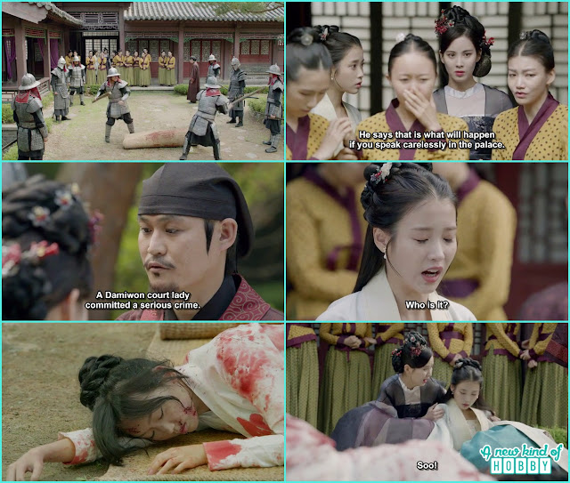 hae so after saw chae ryung fell on the ground and faint - Moon Lovers Scarlet Heart Ryeo - Episode 18 (Eng Sub)