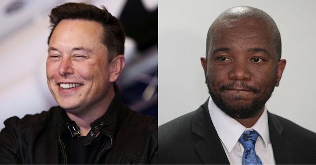 Mmusi Maimane and Elon Musk