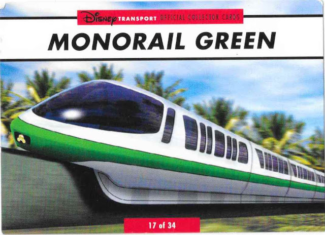 Monorail Green Disney Transportation Card 17 of 34