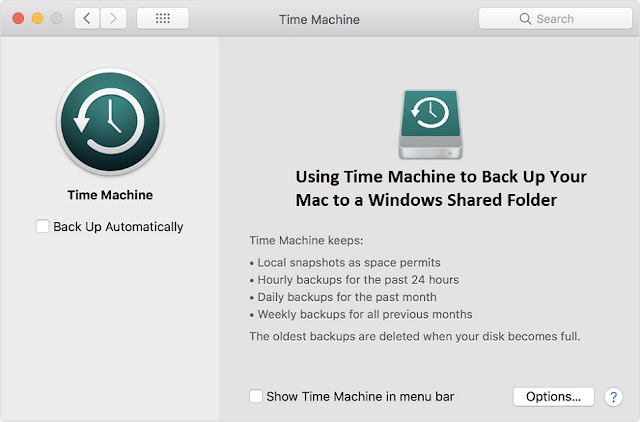 Using Time Machine to Back Up Your Mac to a Windows Shared Folder