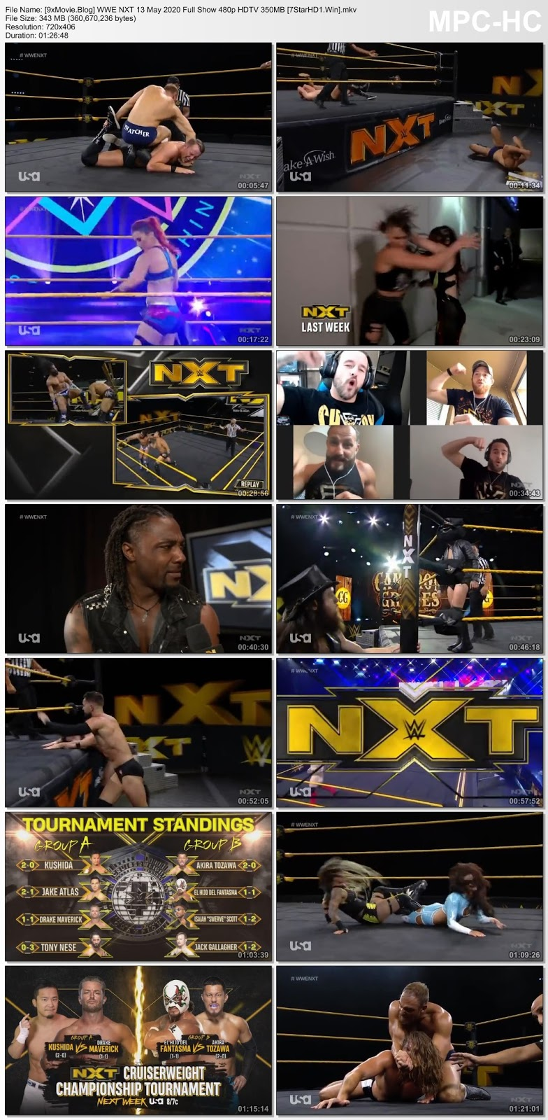 WWE NXT 13 May 2020 Full Show 480p HDTV x264 350MB