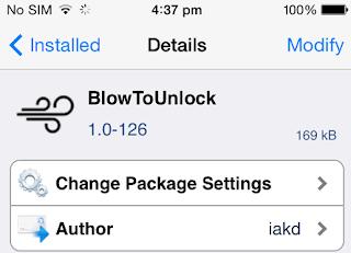 BlowToUnlock أداة فتح الايفون عند النفخ فيه