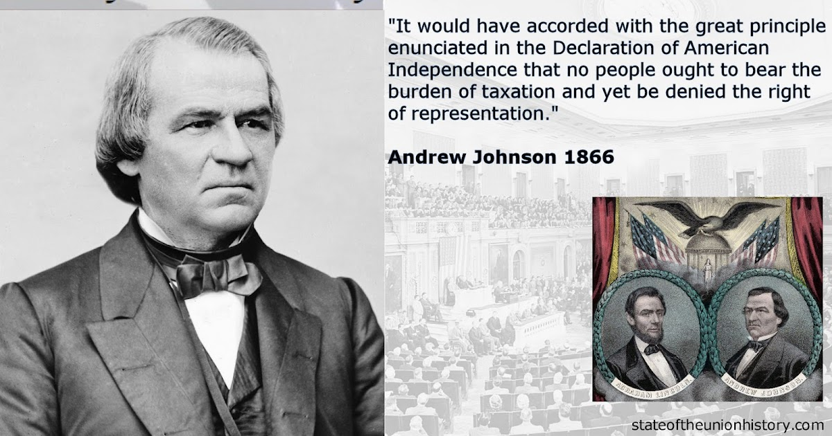 1866 Andrew Johnson - Section 3 of the 14th Amendment ...