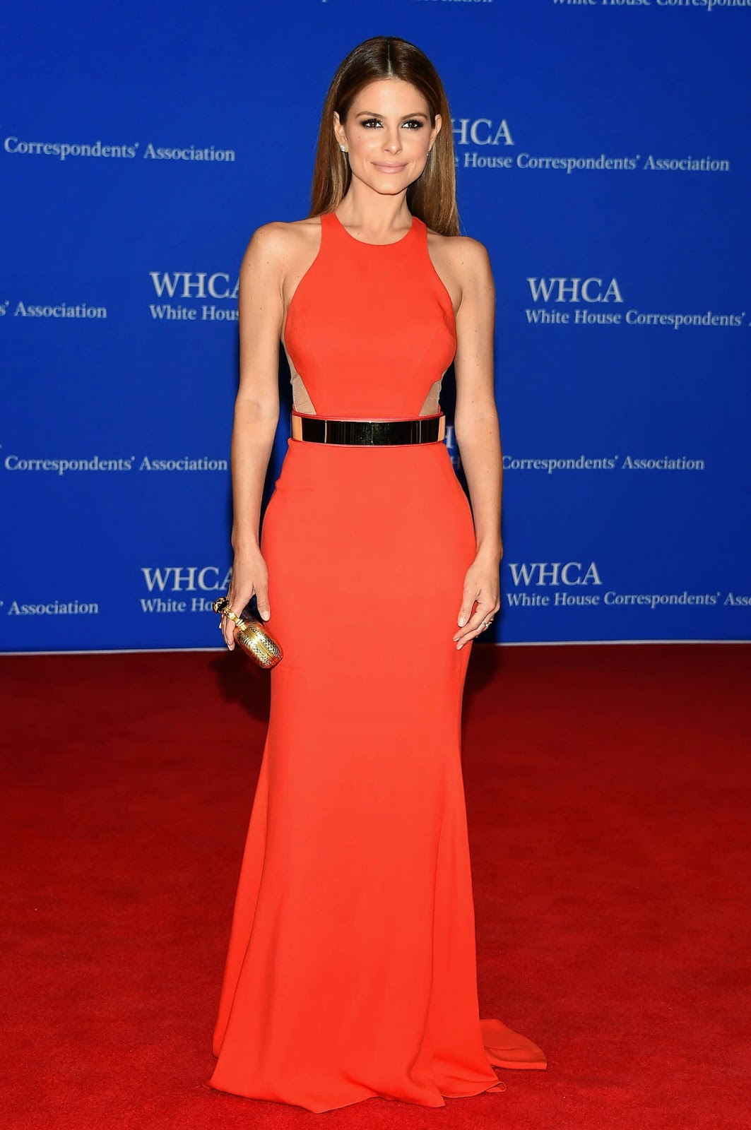 Maria Menounos in a figure hugging dress at the 2015 White House Correspondents' Association Dinner