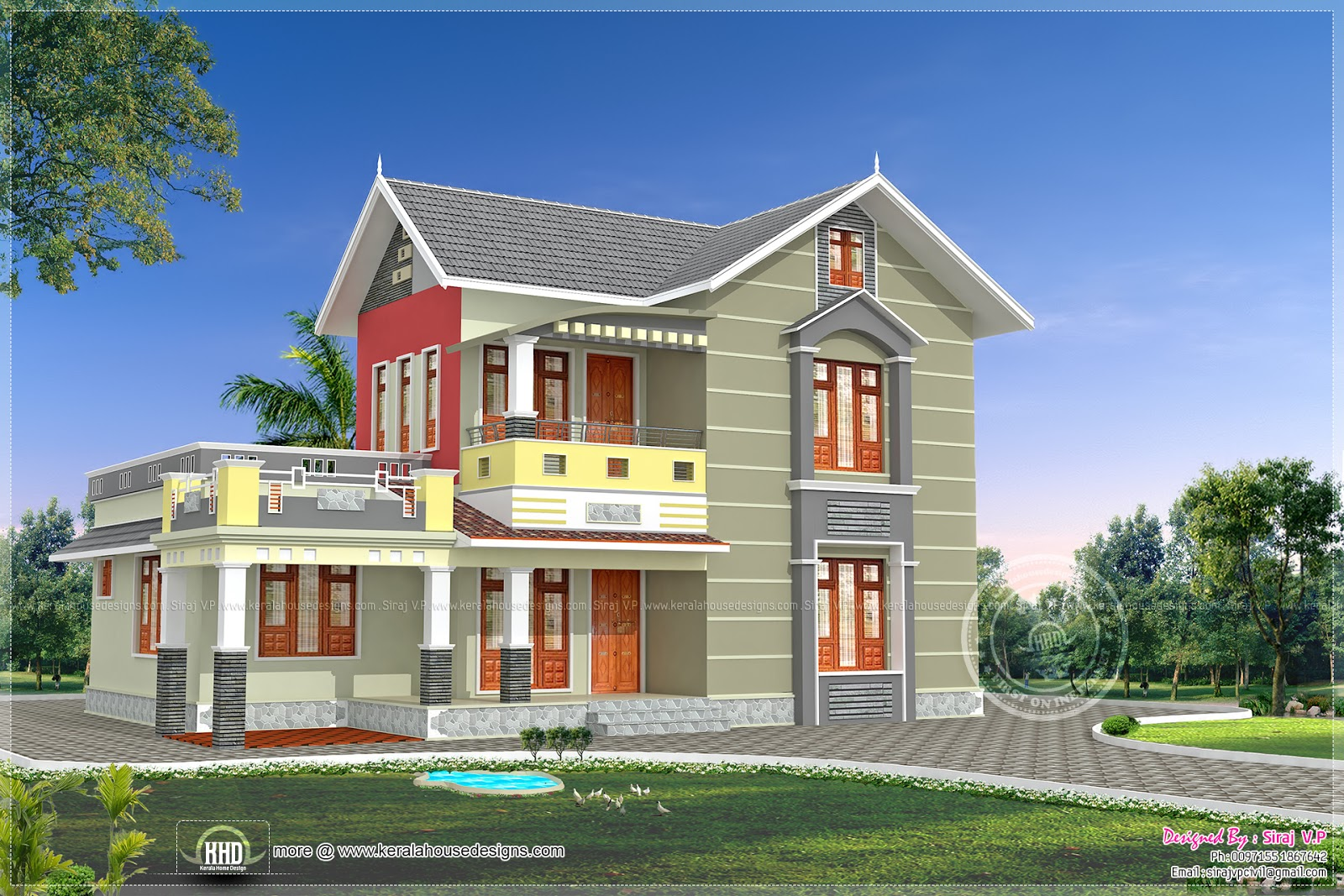 Dream home design for Beautiful 5 bedroom house plans with pictures