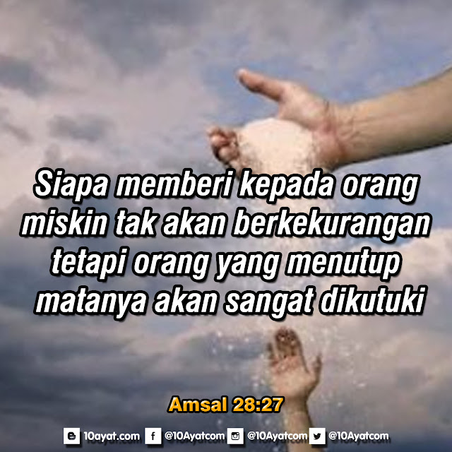 Amsal 28:27