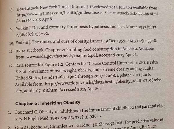 Reference codes from the Obesity Code Book
