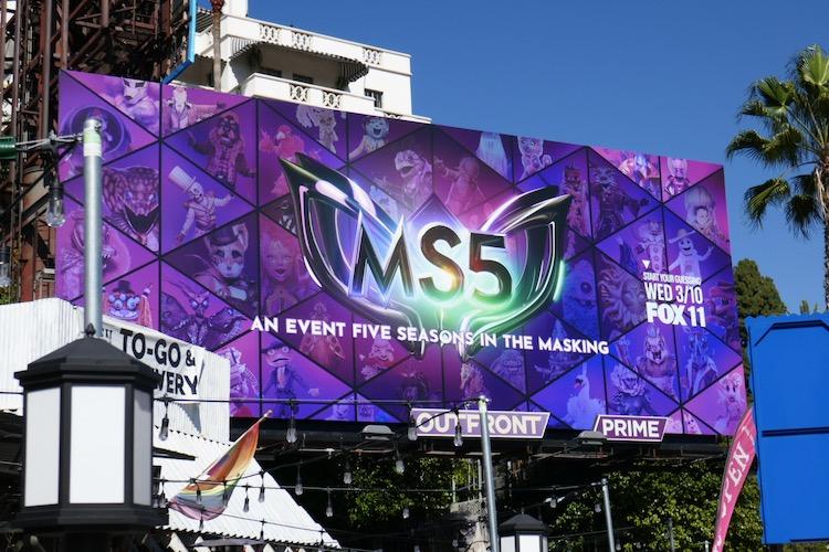 Masked Singer MS5 billboard