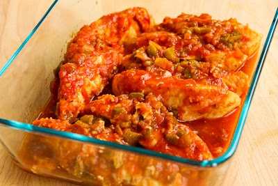 Low-Carb Slow Cooker Salsa Chicken with LIme and Melted Mozzarella [found on KalynsKitchen.com]