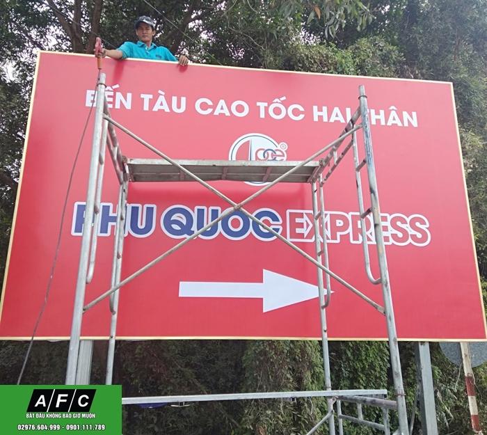 Làm bảng hiệu Hiflex lót tôn giá rẻ tại Phú Quốc