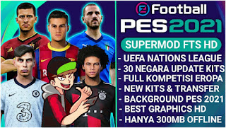 Download FTS 21 MOD PES 2021 FULL EROPA & UEFA NATION LEAGUE
