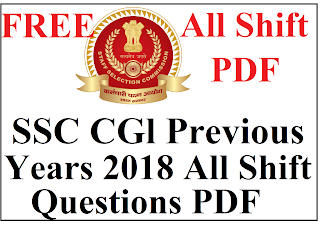 SSC Previous Years Questions in hindi PDF, SSC 2019 Questions PDF