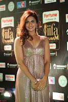 Telugu Actress Aarthi in Deep Neck Backless Golden Gown at IIFA Utsavam Awards 2017 Exclusive 27.JPG