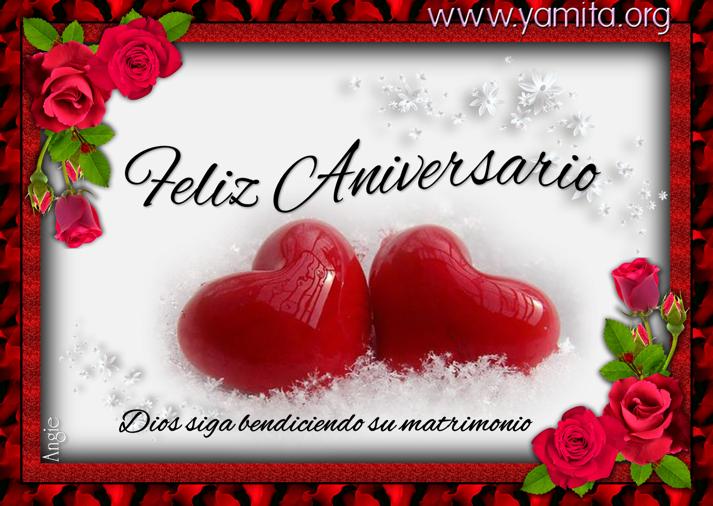 Mensajes De Feliz Aniversario De Bodas: Feliz Aniversario Dios Siga Bendiciendo Su Matrimonio