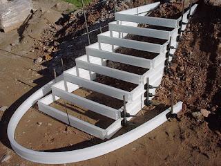 Hacer escaleras con el encofrado Plastocent