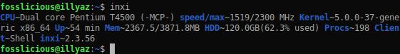 Check Graphics Card Using inxi On Xubuntu