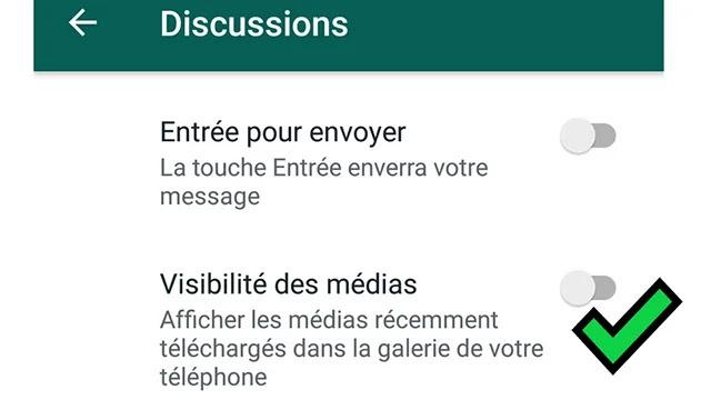 Empêcher l'enregistrement des fichiers médias issus de WhatsApp sur votre Smartphone