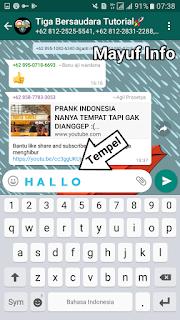 Cara Membuat Tulisan Berwarna Biru Tebal Di Chat Whatsapp