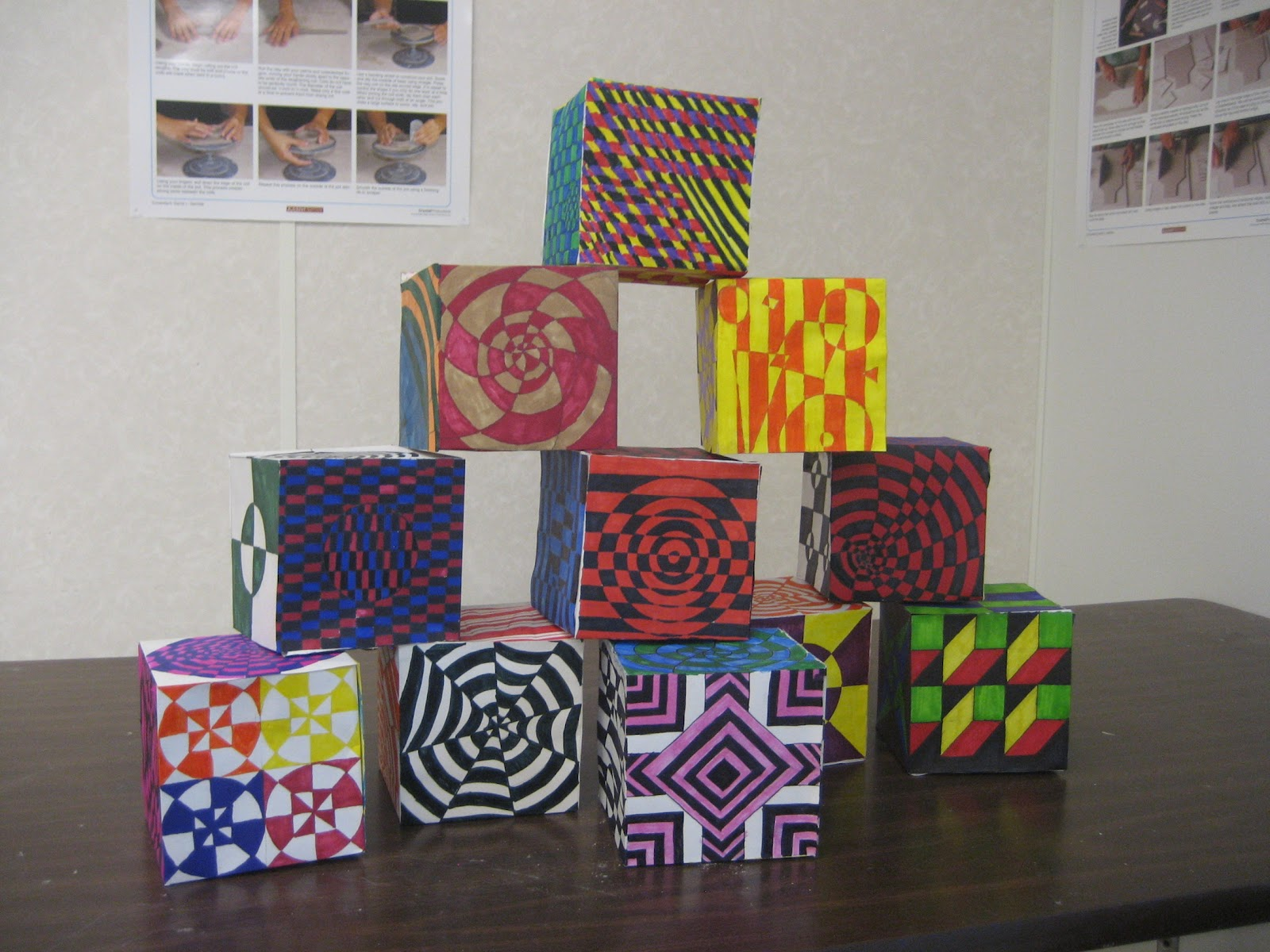 My Work And Play Op Art Boxes
