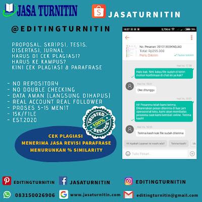 Jasa Cek Turnitin Profesional Di Sulawesi Utara