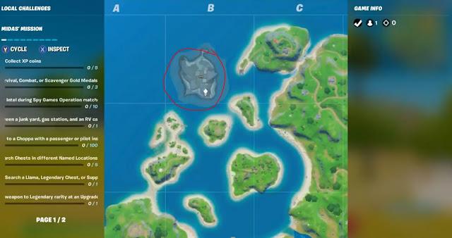 Fortnite New Map Location