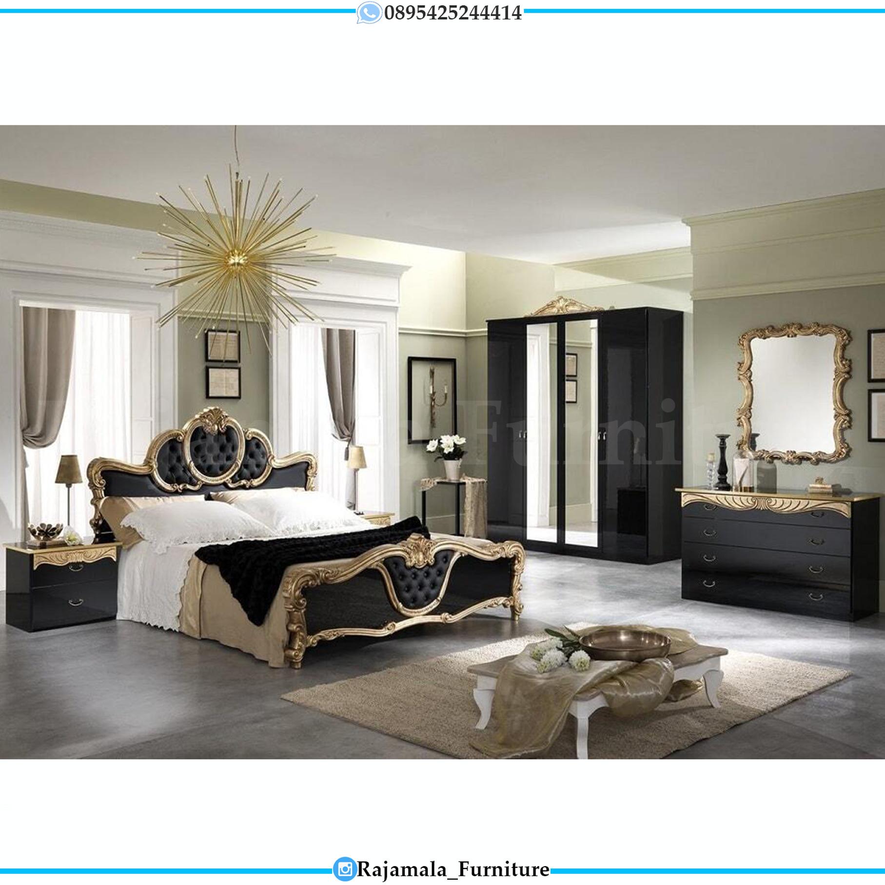 Elegant Set Tempat Tidur Mewah Black Edition Luxury Classic RM-0082