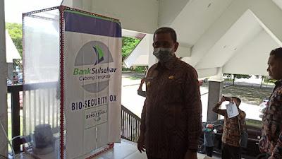 Antisipasi Corona, Bank Sulselbar Beri Bantuan Bio Security Box di Wajo