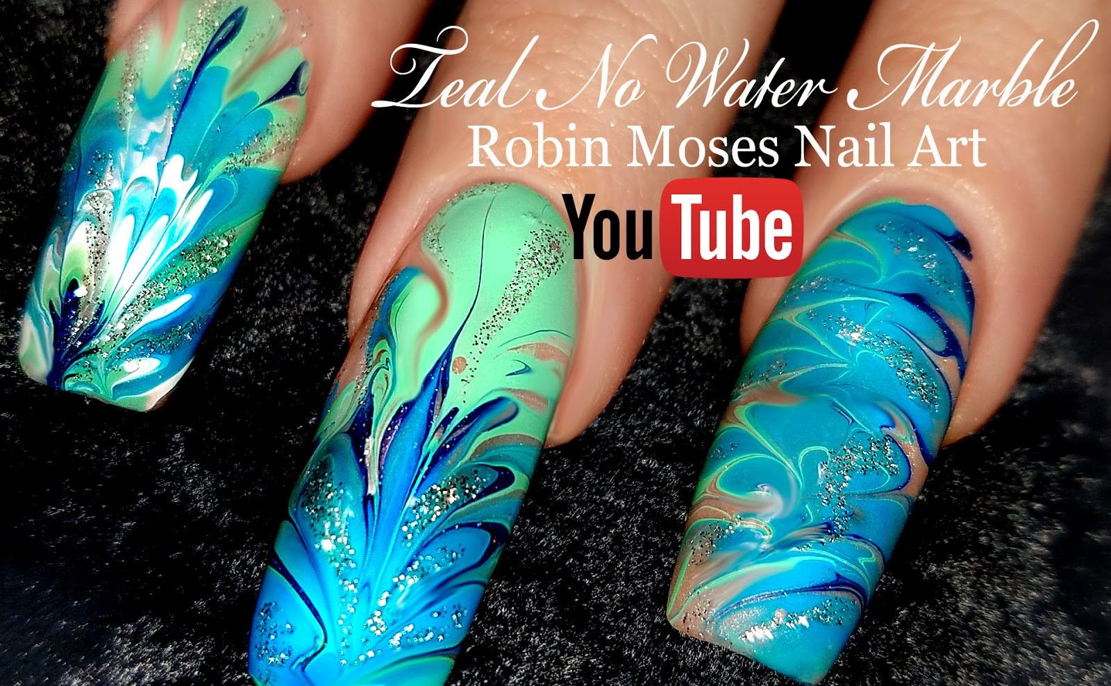 Nail Art By Robin Moses Lavender And Pink No Water Dry Drag Marble