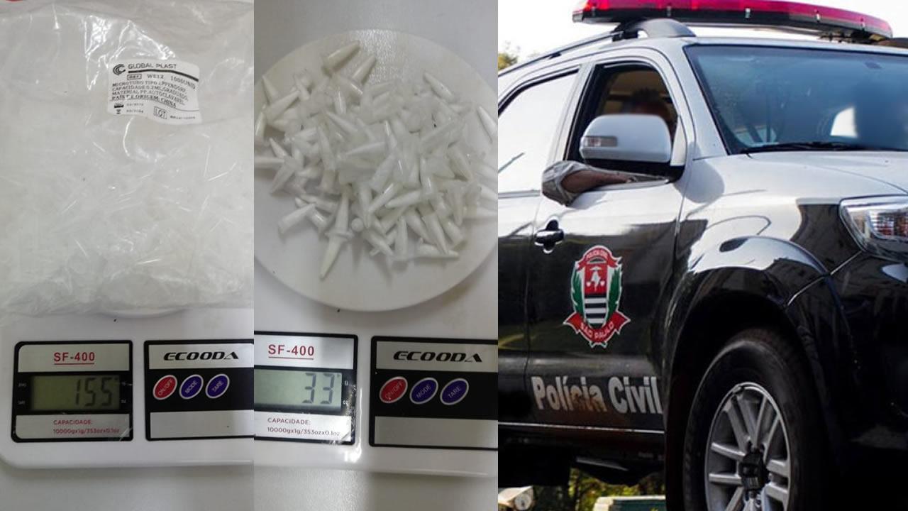 Polícia Civil de Pinhal realiza operação 'Rei Momo' e prende 3 suspeitos por tráfico